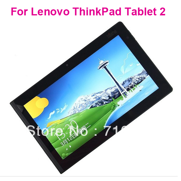 Free Shipping clear Screen Protector with Retail Package For Lenovo ThinkPad Tablet 2(China (Mainland))