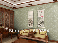 good quality fabric decorative wallpaper BS0717#