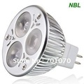 Free shipping & High Power, 3x1W LED spotlight(L serious), MR16/GU5.3, CE & RoHS, 3 Years Warranty Time