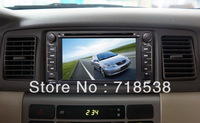 6.2inch Toyota corolla car DVD player with Bluetoth, Radi,TV, GPS,PIP,IPOD,USB, Rear view camera OP free card free shipping