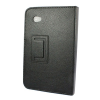 High Quality Leather Case Cover Stand for Samsung Galaxy Tab 2 7.0' P3100 P3110 Tablet Black  Free Shipping & Wholesale