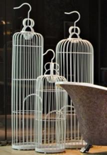 Ferro forjado gaiola de pássaro francês branco adereços decoração(China (Mainland))