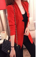 FREE SHIPPING Women's 2013 spring slim plus size suit outerwear spring and autumn summer women's medium-long blazer  B357