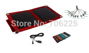 Perfect Solar Panel 6W Kits plus 10-in-1 USB Charging Cable and Mini Voltage Controller for all moilephones charging