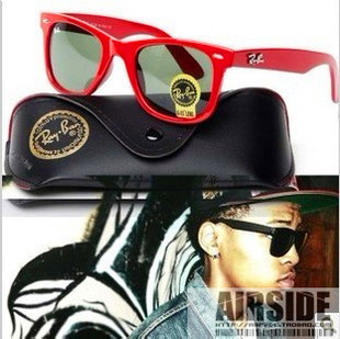Vogue of new fund of 2013 red sun glasses(China (Mainland))