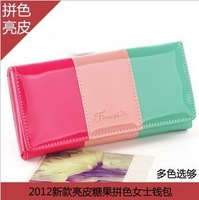 Candy color bright leather purse wholesale.welcome to buy