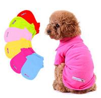 Free Shipping 8 COLORS DOG Clothes PET Clothes Classic POLO T shirts XS,S,M,L pet clothes