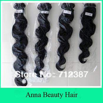 mixed length 4pcs lot malaysian  remy  hair, body wave 100% human hair weave 400g full head color#1b