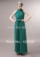 2014 Summer spring Women Sexy Elegant Asymmetric long Chiffon dress lady evening party dress Elastic Waist JMS-004