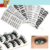 60 Pair 6 Style Long False Eyelashes Eyelash Eye Lashes Free Shipping 6916