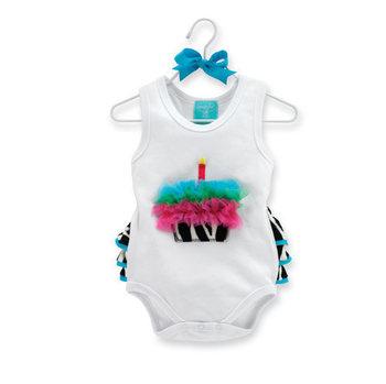 Baby birthday cake model romper zebra+lace rompers bodysuits baby one-piece