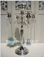 On Sale Top rated 68cm metal candelabra with beads for wedding centerpieces, candel holder