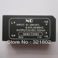 10pcs/lot AC-DC converter/Inverters 220V to 3.3V 3W single ac dc power modules NA03-T2S03 Free shipping