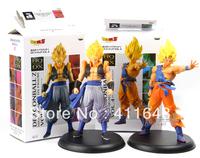 "2 Pieces Dragon Ball Z GoKu+Vegeta Son Goku Model Doll Anime Animation Action Figures Toy Gift Free Shipping 25CM/9.8"""