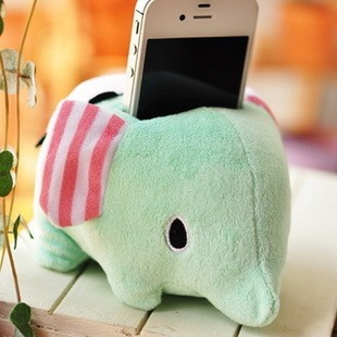 J3 San-X sentimental circus dream circleof cell plush  phone holder, elephant phone holder , 1pc