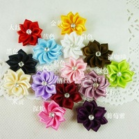 Diy clothes accessories ribbon flower ribbon flower handmade decoration flower 0.4 accounterment flower