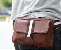 2013 men's fashion sports waist pack PU bag messenger bags multi-purpose bag free shipping#1207 Drop shipping