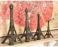 Paris Eiffel Tower 15cm Antiqued Imitation Model Bronze Tone Vintage Alloy Decoration