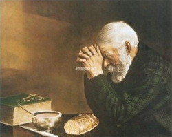 Daily Bread Man Grace Religious Fine Art Artist Oil Painting On Canvas Reproductions For Wall Decor Figure(China (Mainland))