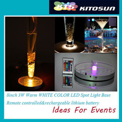 8inch LED wedding lights decorations Spot led light base for the vases LED candelabra illumination(China (Mainland))