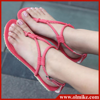Big sale 2013 Summer women's flip flops lace up pu leather shoes for Eur size 34-43 shoes lady Sandals S035