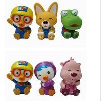 Cheap 6pcs/lot  bath toys Pororo little penguin bath three sets of water stock baby toys