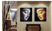 2P Large 100% handpaint Buddha ART OIL Painting(TOP ART no framed)