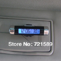 Fashion digital of the automobile thermometer clock LCD backlight