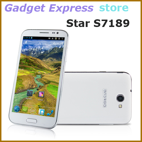 NEW ARRIVAL 5.5 Inch QHD Star S7189 Note II with MTK6589 quad Core low price china galaxy mobile phone 1GB RAM 4GB ROM(China (Mainland))