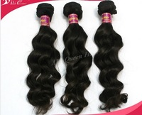 "Free shipping Queen hair products:Mixed length 20""/22""/24""each size 1 pcs,3pcs lot,brazilian virgin hair extensions,more wave"