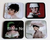 Free Shipping ! 1.99 / piece,4 pieces / set. Mats & Pads! Classic star:Audrey Hepburn !