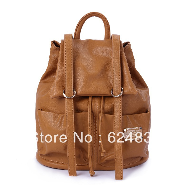 Slouchy hobo style backpack women Bag MJ 3158 Orange(China (Mainland))
