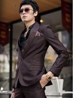 Free shipping Men's clothing suit commercial slim casual suit male suit set formal dress suits