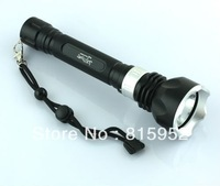 Free shipping 1200Lm 100m Diver Diving CREE XM-L T6 LED Flashlight Torch Waterproof Light Lamp