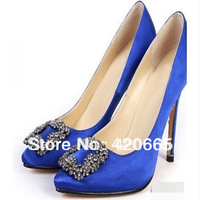 2013 New Occident fashion brand Women Pumps shoes High-heeled pointed shoes diamond wedding shoes free shipping