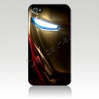IZC1249 iron man Bulk Hard plastic Back Cover Case Skin For Iphone 4 iphone 4s iphone 5  Retail Package + Free Shipping
