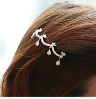 Bling Elegant Full Rhinestone Water Flower Hairpin Hair Jewelry 040