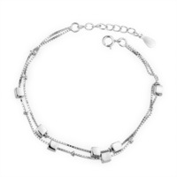 Box chain bracelet individuality brief 925 pure silver bracelet women's bracelet accessories