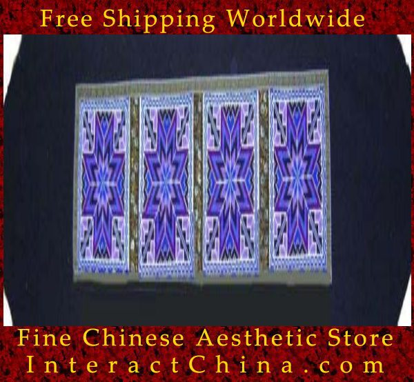 "Hand Cross Stitch Quilt Tapestry Throw 15x74"" Embroidery Textile Sewing Art #128(China (Mainland))"