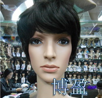 stubbiness male female real H Hair  wigs short hair wigs