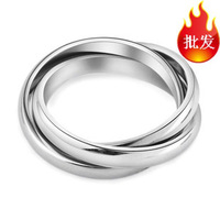 Free Shipping Double Circle Stainless Steel Ring For Lady She Her Rings New Arrival Luxury Fashion Evening Party Jewelery