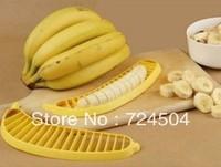 Wholesale - Free Shipping !10PCS BANANA SLICER FRUIT SALAD SUNDAES CUTTER CHOPPER FOR KITCHEN