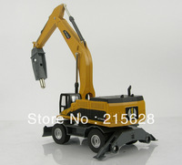 Delicate work mini diecast alloy cone rock crusher engineering cars construction vehicle model toy truck kids toys
