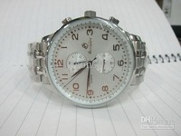 new baolilong quartz chronograph white luxury watches stainless steel band for men watches