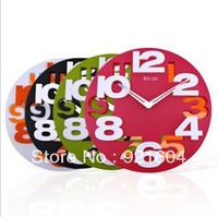 Free Shipping Fashion Wall Clock  Digital Clock  Wall Decoration Quartz  Creative Gift ITEM NO35273