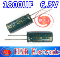 FREE SIPPING nichicon 1800UF 6.3V high quality mainboard electrolytic capacitor  200PCS/lot