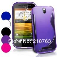 wholesale-20pcs/lot High Quality Soft TPU Gel S line tpu case for HTC ONE SV.HK Free Shipping
