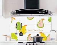Free shipping    Fruits kitchen stickers   Wall Stickers\ oil stickers (fruits)     High-grade oil proofing