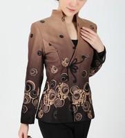 NEW Coffee Fashion Chinese tradition Women's Jacket  Coat Outerwear  Size S M  L XL  XXL XXXL