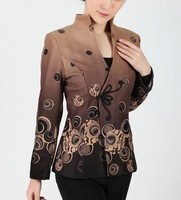 NEW Coffee Fashion Chinese tradition Women's Jacket  Coat Outerwear  Size S M  L XL  XXL XXXL